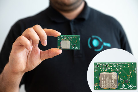 HiSilicon & Nowi introduce Energy Autonomous NB-IoT platform: a power-free solution in the smallest size possible (Photo: Business Wire)