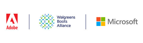Walgreens Boots Alliance announces strategic partnership with industry leaders Microsoft and Adobe to launch second phase of digital transformation at the intersection of health and technology (Graphic: Business Wire)