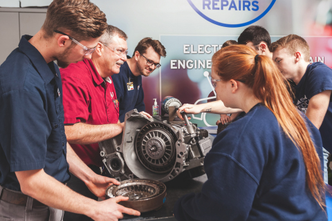 """Icahn Automotive recently awarded $2500 """"Find Your Drive"""" scholarships to 15 aspiring automotive technicians. (Photo: Business Wire)"""