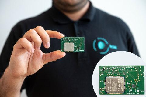 海思和Nowi推出能源自给的NB-IoT平台:尺寸最小的免供电解决方案(照片:美国商业资讯)