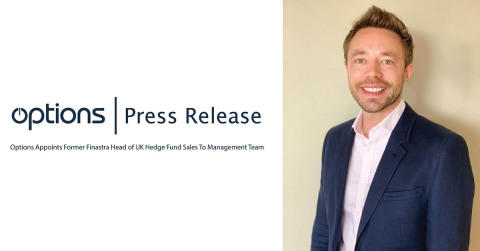 Options, the leading managed service and IT infrastructure provider to the global capital markets industry, today announced the appointment of former Finastra Head of UK Hedge Funds and Overall Buy-side for the Nordics, Nick Palmer, to its management team. (Photo: Business Wire)