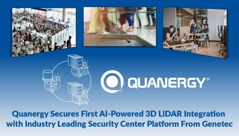Quanergy Secures First AI-Powered 3D LiDAR Integration with Industry Leading Security Center Platform From Genetec (Graphic: Business Wire)