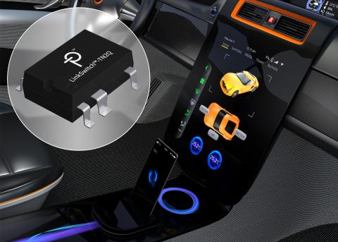 LinkSwitch-TN2 Power Integrations 的高壓切換開關 IC 現已通過認證,可供汽車使用 (照片:美國商業資訊)