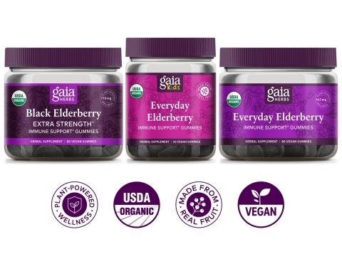 Leading Natural Herbal Products Brand Extends Best-Selling Black Elderberry Line with New Delicious and Efficacious Format (Graphic: Business Wire)