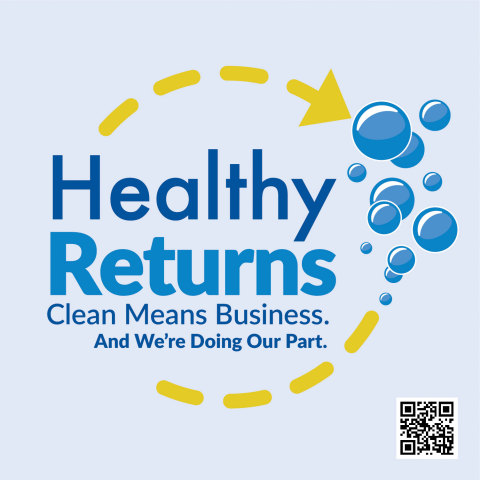 """The American Cleaning Institute's """"Healthy Returns"""" toolkit offers concise information on proper cleaning and hygiene practices for reopening small businesses and offices. (Graphic: Business Wire)"""