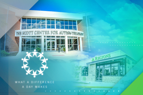The Scott Center for Autism Treatment in Melbourne, Florida, won Regions Bank's record-setting What a Difference a Day Makes Contest. (Photo: Business Wire)