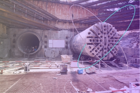 A tunnel boring site (Photo: Sigfox)