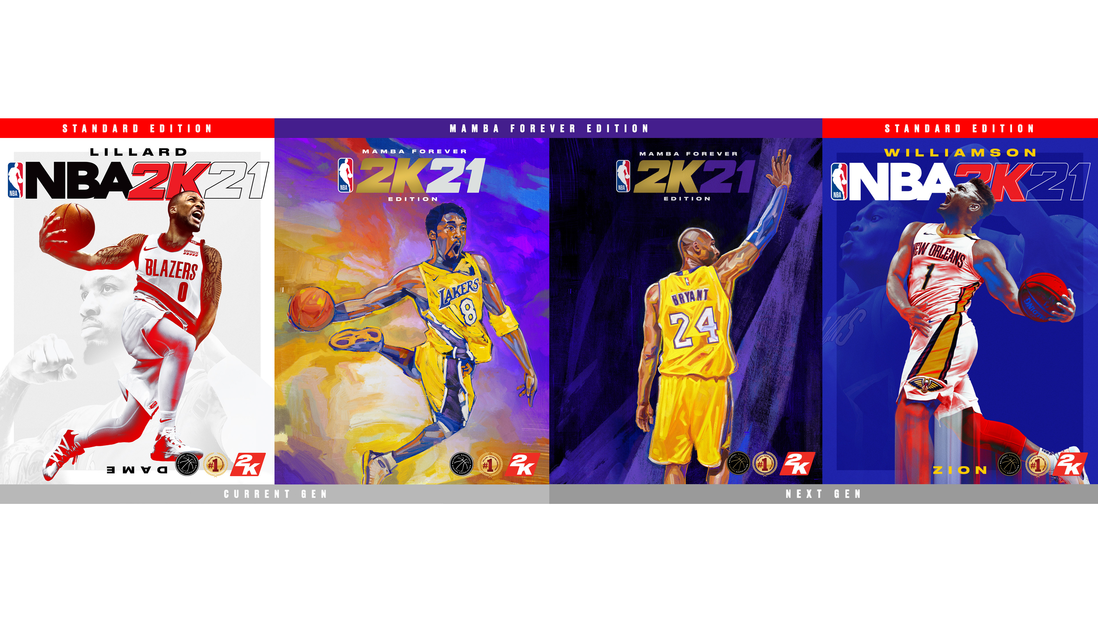 Everything is Game: Damian Lillard, Zion Williamson and Kobe Bryant are the  Cover Athletes for NBA® 2K21 | Business Wire