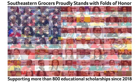 Southeastern Grocers proudly stands with Folds of Honor supporting more than 800 educational scholarships since 2018. (Photo: Business Wire)
