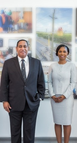 FortisTCI President and CEO Eddinton Powell (L) retires and Senior Vice President of Corporate Services and CFO Ruth Forbes is named successor, effective from August 2, 2020. (Photo: Business Wire)