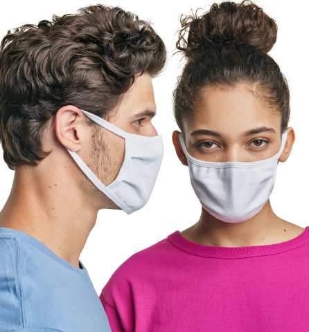 Hanes has introduced 3-ply all-cotton nonmedical face masks for consumers that are reusable, washable and comfortable. (Photo: Business Wire)