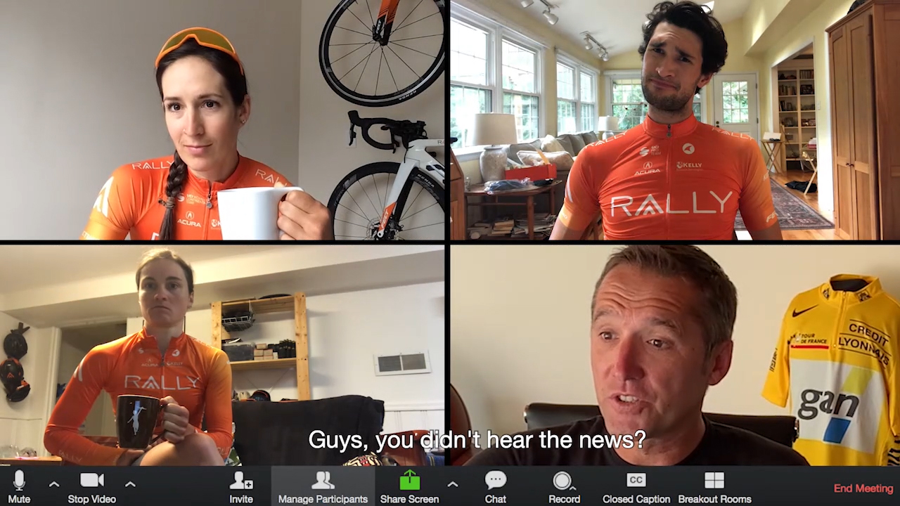 Rally Cycling released a clever announcement video, featuring the team's European GM and former Tour de France yellow jersey holder, Stéphane Heulot.