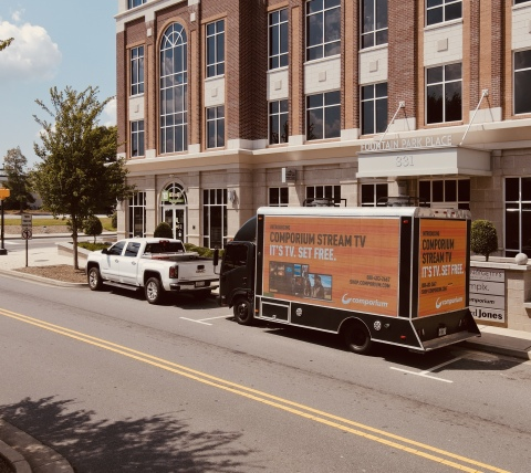 Comporium partners with Crenshaw Visions, introducing a mobile digital billboard to the Upstate and Charlotte Metro area. (Photo: Business Wire)