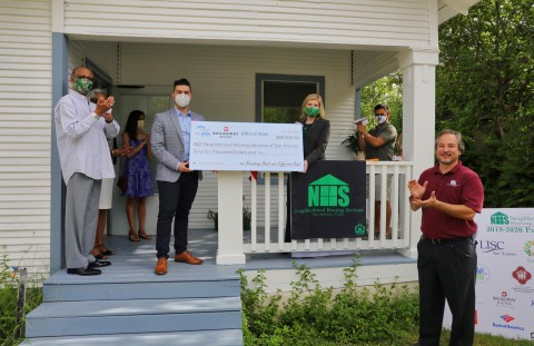 Broadway Bank, Jefferson Bank and FHLB Dallas awarded $66K in Partnership Grant Program (PGP) funds to Neighborhood Housing Services of San Antonio to help the organization continue building safe and diverse neighborhoods. (Photo: Business Wire)