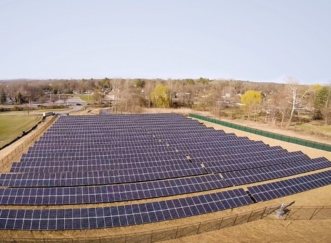 The team at Central Hudson Gas & Electric transformed existing infrastructure to connect solar farms to the grid as part of a larger clean energy initiative. (Photo: Business Wire)