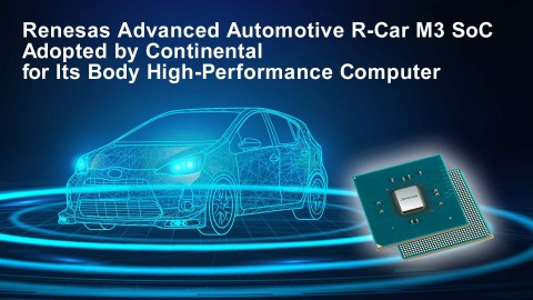 Renesas Advanced Automotive R-Car M3 Adopted by Continental for Its Body High-Performance Computer (Graphic: Business Wire)