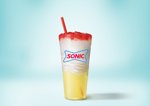SONIC® Drive-In announces a new treat with three layers of refreshing flavors: the Lemonberry Slush Float. (Photo: Business Wire)