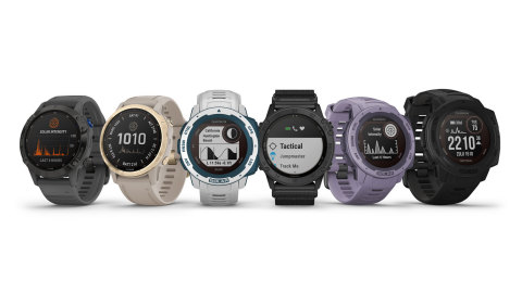 All-new Garmin solar wearables (Photo: Business Wire)