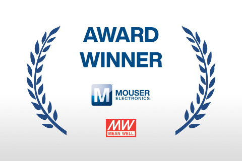 Mouser received the 2019 North American Distributor of the Year award from MEAN WELL for top scores in categories such as sales performance, models promotion, marketing and technical and customer support. (Graphic: Business Wire)