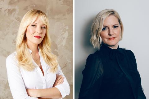 明星造型師Tara Swennen和Glamhive創辦人Stephanie Sprangers(照片:玫琳凱)
