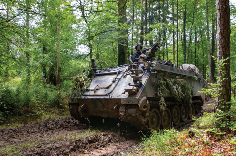 Allison Transmission's X200-4A cross-drive automatic transmission returns to production to support the U.S. Army's M113A3 armored personnel carrier. (Photo: Business Wire)