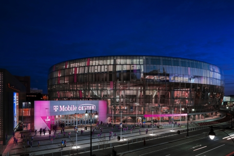 The Un-carrier is reinforcing its commitment in the Kansas City community and introducing T-Mobile Center, formerly Sprint Center. (Graphic: Business Wire)