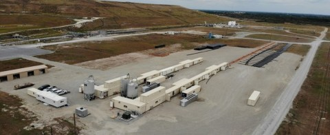 Aerial view of Tubi's two plants at Bartow, Florida site - with produced long length pipe (Photo: Business Wire)