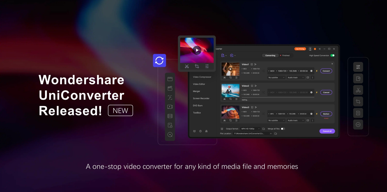Wondershare Releases Major Wondershare UniConverter Update | Business Wire