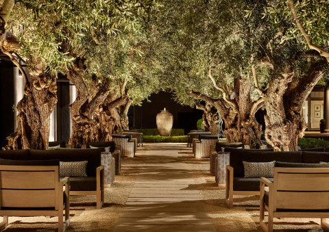 GARDEN COURTYARD AT RH MARIN, THE GALLERY AT THE VILLAGE (Photo: Business Wire)