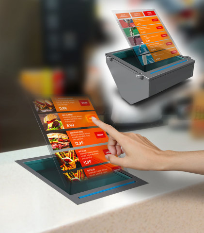 Contactless-touch Holographic System (Photo: Business Wire)