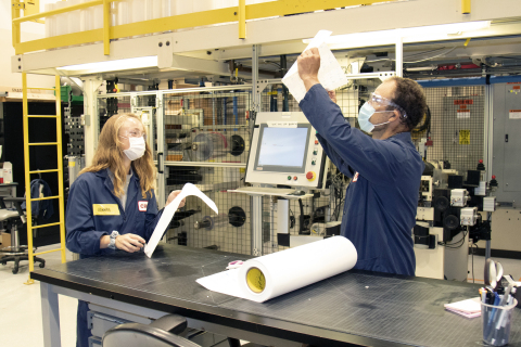 3M COVID-19 test team at the pilot lab facility at 3M's global headquarters in St. Paul, Minnesota. (Photo: Business Wire)