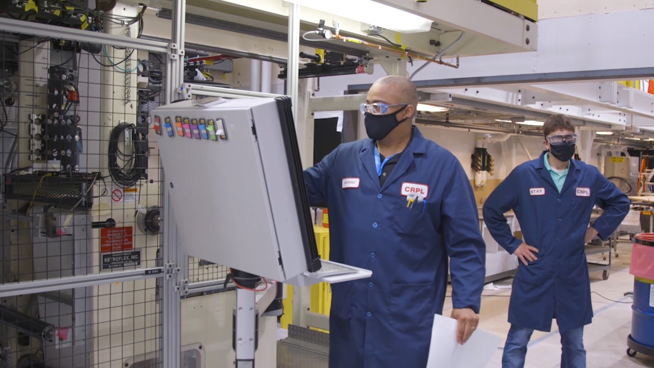 3M COVID-19 test team at the pilot lab facility at 3M's global headquarters in St. Paul, Minnesota.