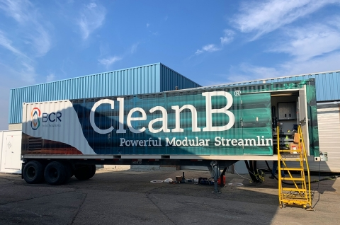 "BCR's CleanB technology mobile demonstration truck offers customers like Butler County Ohio's wastewater treatment plant an opportunity to ""test drive"" the technology by processing material onsite before purchasing. (Photo: Business Wire)"