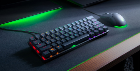 Razer's new Huntsman Mini optical keyboard at 60% form factor -- perfect companion for esports tournaments. (Photo: Business Wire)