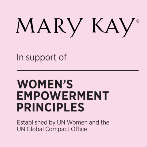 Mary Kay became a signatory of the Women's Empowerment Principles (WEPS) on February 28, 2019. (Graphic: Mary Kay Inc.)