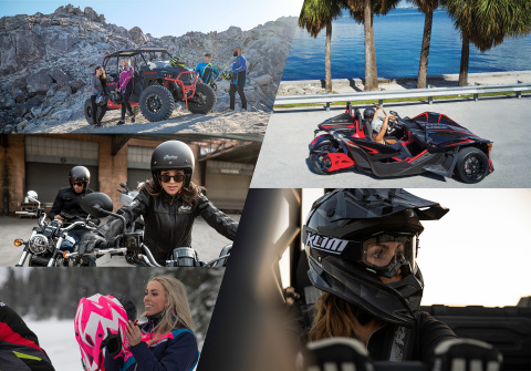 Polaris has partnered with International Female Ride Day a globally synchronized ride day celebrating women riders and their passion for powersports. IFRD will take place Saturday, August 22, on six continents in over 120 countries. (Photo: Business Wire)