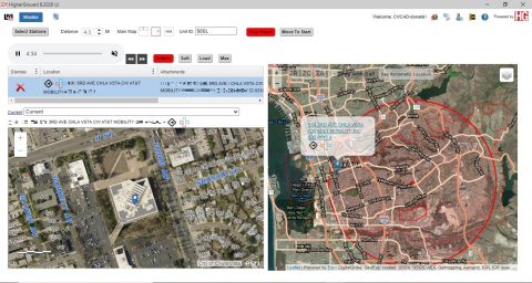 Live911 screenshot (Graphic: Business Wire)