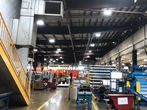 LED lighting installed for a WernerCo manufacturing facility by Fairbanks Energy Services (Photo: Business Wire)
