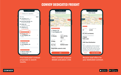 Convoy Launches Dedicated Freight for Owner-Operators and Small Fleets Nationwide (Photo: Business Wire)
