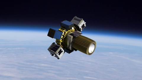 Spaceflight's Sherpa-FX is the first innovative orbital transfer vehicle to debut in the company's Sherpa-NG (next generation) program. The vehicle is capable of executing multiple deployments, providing independent and detailed deployment telemetry, and flexible interface, all at a low cost. Graphic represents the SXRS-3 mission, carrying customer spacecraft and hosted payloads. (Photo: Business Wire)