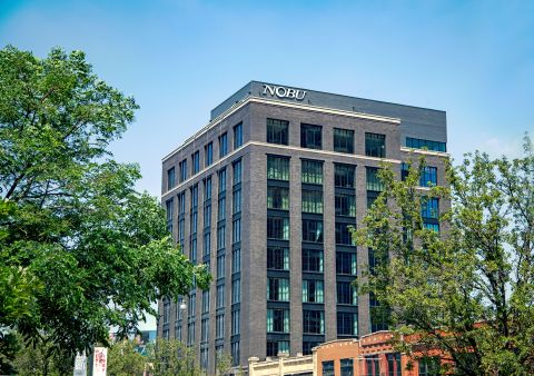 Nobu Hotel Chicago, pictured here, uses Aruba networking technology to provide a superior experience to its guests. (Photo: Business Wire)