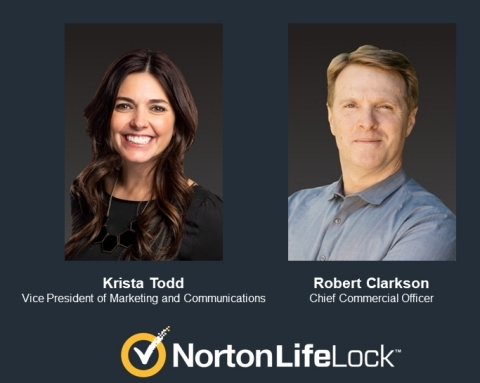 Krista Todd joins NortonLifeLock as Vice President of Marketing and Communications along with Robert Clarkson who joins the company as Chief Commercial Officer. (Photo: Business Wire)