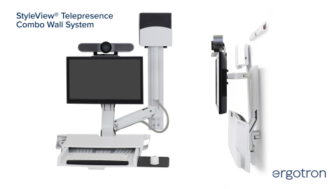 The new StyleView Telepresence Combo Wall System consolidates telepresence equipment and medical record access. (Photo: Business Wire)