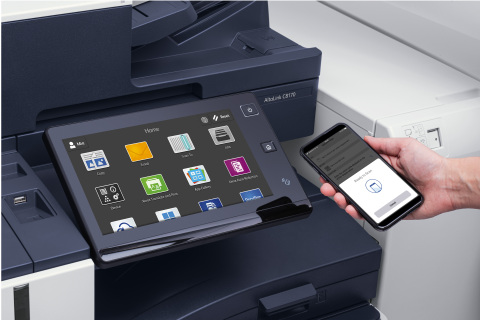 The tablet-like user interface allows for easy, familiar interaction or the user can choose to print from their mobile devices. (Photo: Business Wire)