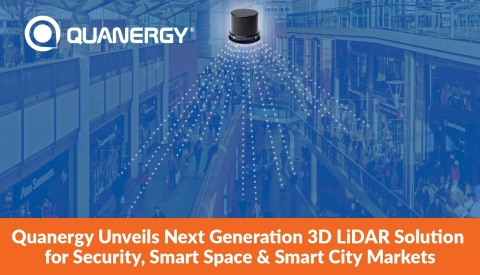 Quanergy Unveils Next Generation 3D LiDAR Solution for Security, Smart Space and Smart City Markets (Graphic: Business Wire)