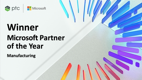 Honored among a global field of top Microsoft partners, PTC has demonstrated excellence in innovation and implementation of customer solutions based on Microsoft technology.