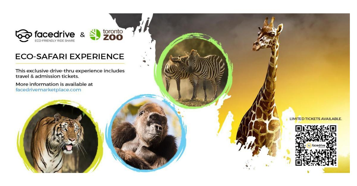 Toronto Zoo Announces Facedrive As A Sustainable Rideshare Partner For Its Scenic Drive Thru Safari Experience Business Wire