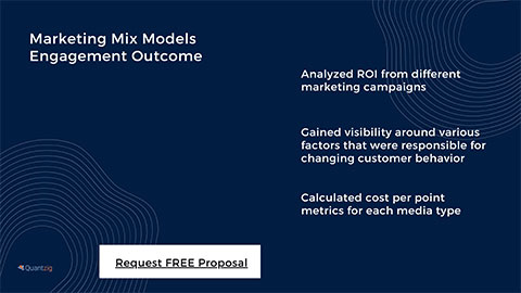 Marketing Mix Models Engagement Outcome