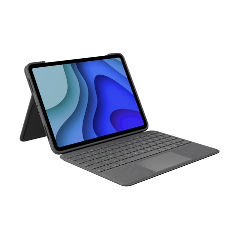 Logitech Folio Touch, the incredibly versatile keyboard case with high-precision trackpad for the 11-inch iPad Pro (1st and 2nd Generation), features a foldable keyboard with adjustable kickstand (Photo: Business Wire)