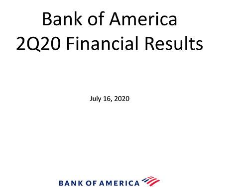 Q2 2020 Bank of America Investor Relations Presentation
